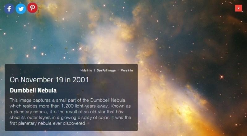 Hubble opname van een deel van de Halternevel in het sterrenbeeld Vosje - Vulpecula