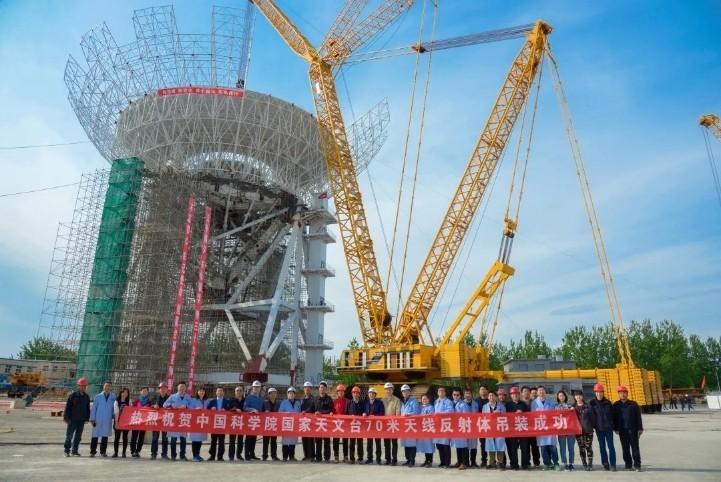 Chinese radiotelescoop in aanbouw