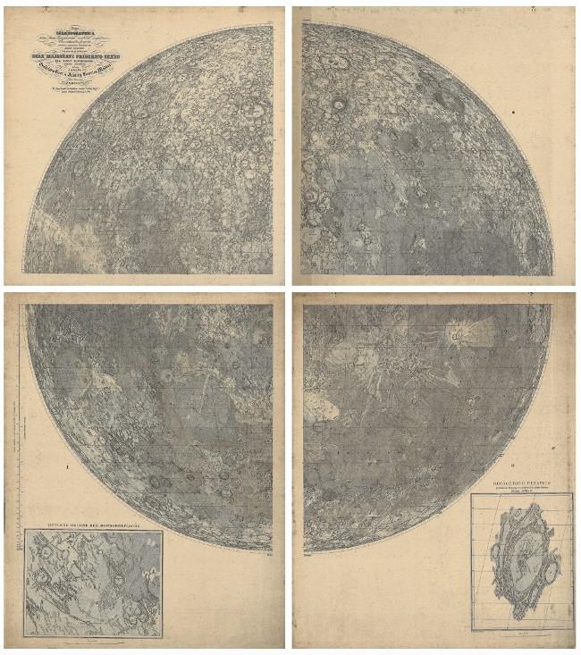 De Mappa Selenographica van Von Mädler en Beer.