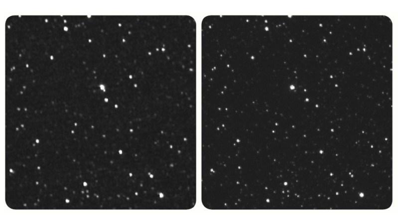 Stereo opname van Proxima Centauri door de New Horizons