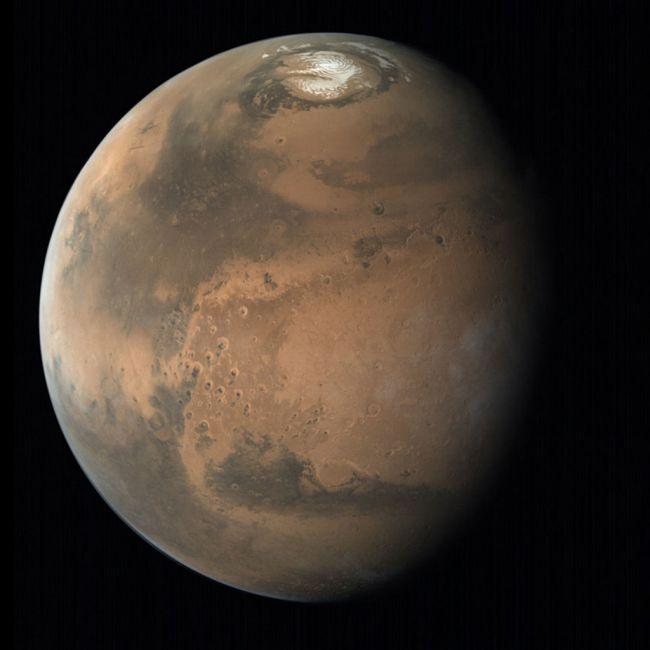De noordpoolkap van Mars