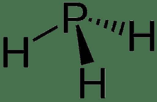 Structuurformule van fosfine
