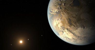 Artist's impression van een exoplaneet in de bewoonbare zone van zijn ster