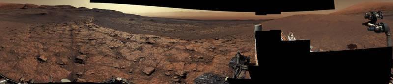 Curiosity in de Gale krater