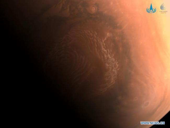 Hoge-resolutie opname van de noordpool van Mars