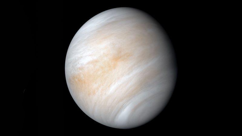 Opname van Venus met zijn dikke wolkendek