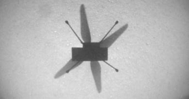 Schaduw Ingenuity op Mars
