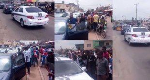 """Na spirit dey inside"" – Watch the reaction of Nigerians when spotted a self-driving car for the first time"