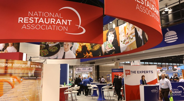 National Restaurant Association Show floor booth