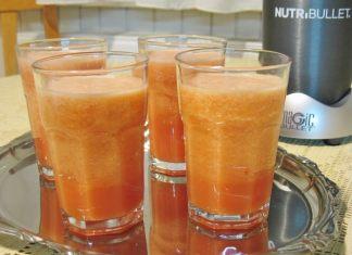 Sunčani smoothie iliti napitak od lubenice banane i još ponečim
