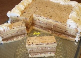 Kapućino snikers torta