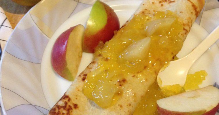 Palačinke sa vanila kremom i jabukama