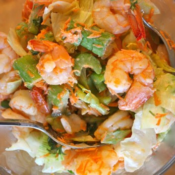 Summer Salad Series: Blazing Buffalo Shrimp Salad