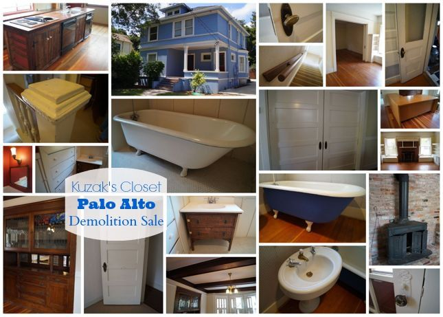 Palo alto demolition sale holiday palooza tuesday august for Demolition wood for sale