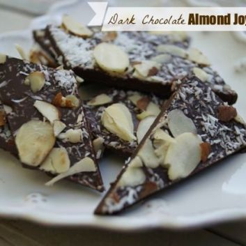 Dark Chocolate Almond Joy Bark