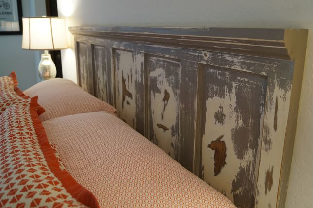 Kuzak's Closet Antique Door Turned Headboard Makeover