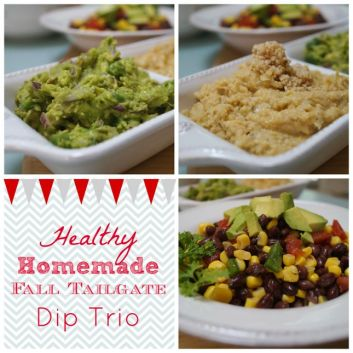 Healthy Homemade Tailgate Dip Trio