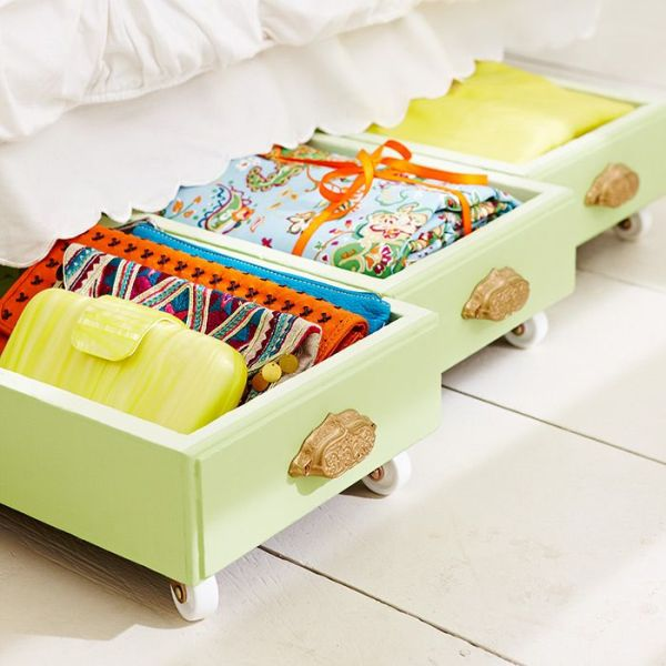 Using Under Bed Storage. Picture Source: Lowes.
