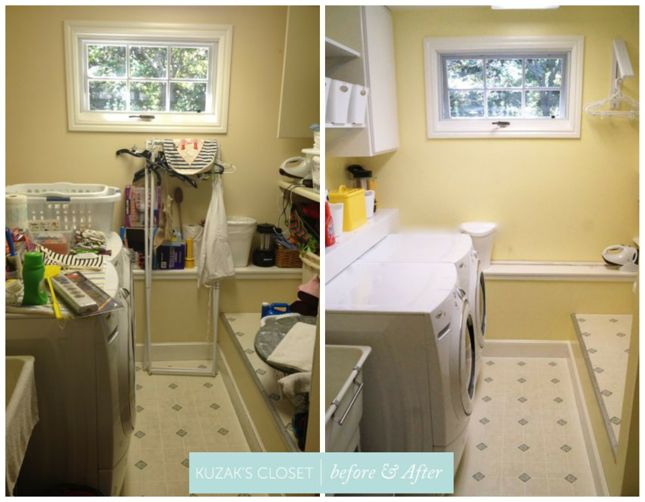 Kuzak's Closet Organized Laundry Room Before and Afters