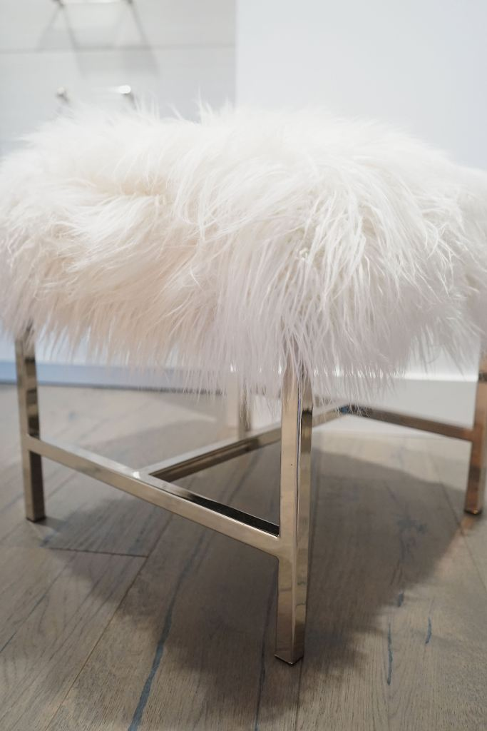 Pottery Barn Fur Closet Stool, To Die For!