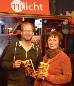 Dietmar Baurecht und Grudrun Lerchbaum bei der Lesung. (Foto: zVg)