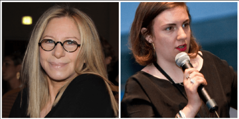 barbra streisand and lena dunham