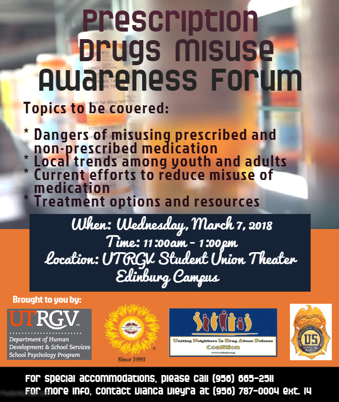 Prescription Drugs Misuse Awareness Forum