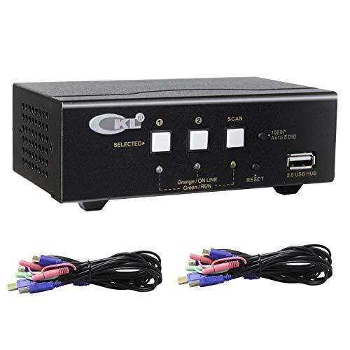 CKL HDMI KVM Switch 2 Port Dual Monitor Extended Display CKL-922HUA