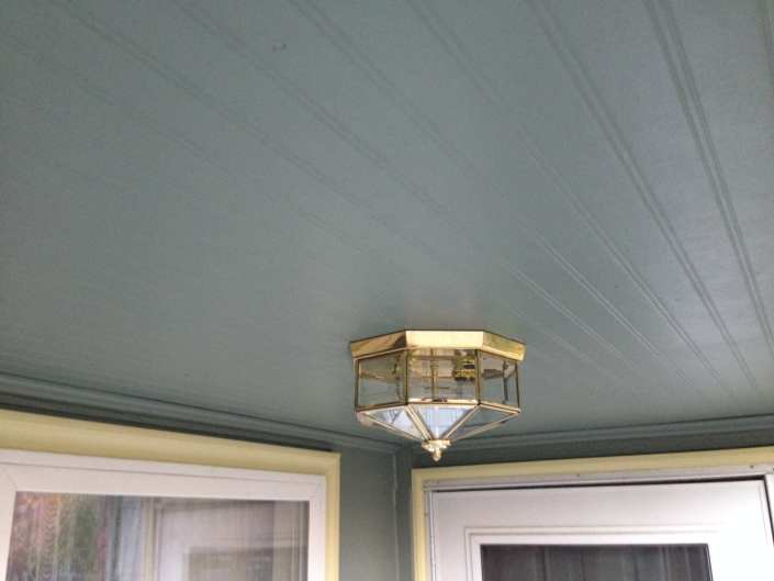 James Hardie beaded porch soffit