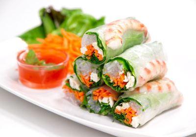 Rollitos de verano, rollitos de primavera, rollitos vietnamitas, cocina asiática