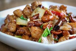Pollo con Anacardos, cocina tailandesa