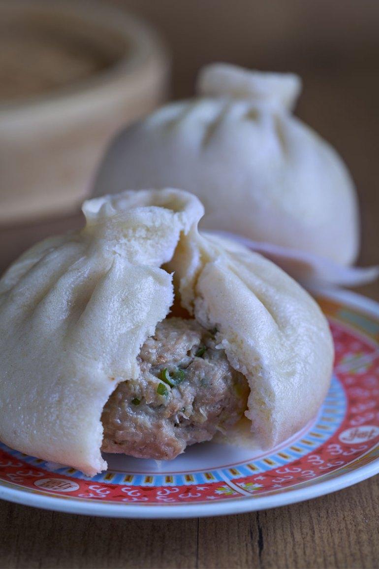 Baozi, pan relleno al vapor, bollos chinos, pan relleno, pan al vapor, salapao, siopao, nikuman, bakpao, bollos chinos al vapor