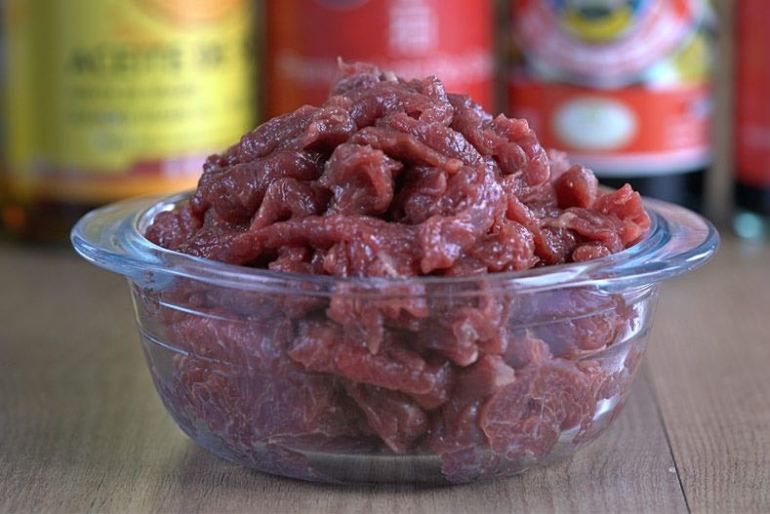 marinar carne, marinae ternera, carne chino, ternera china