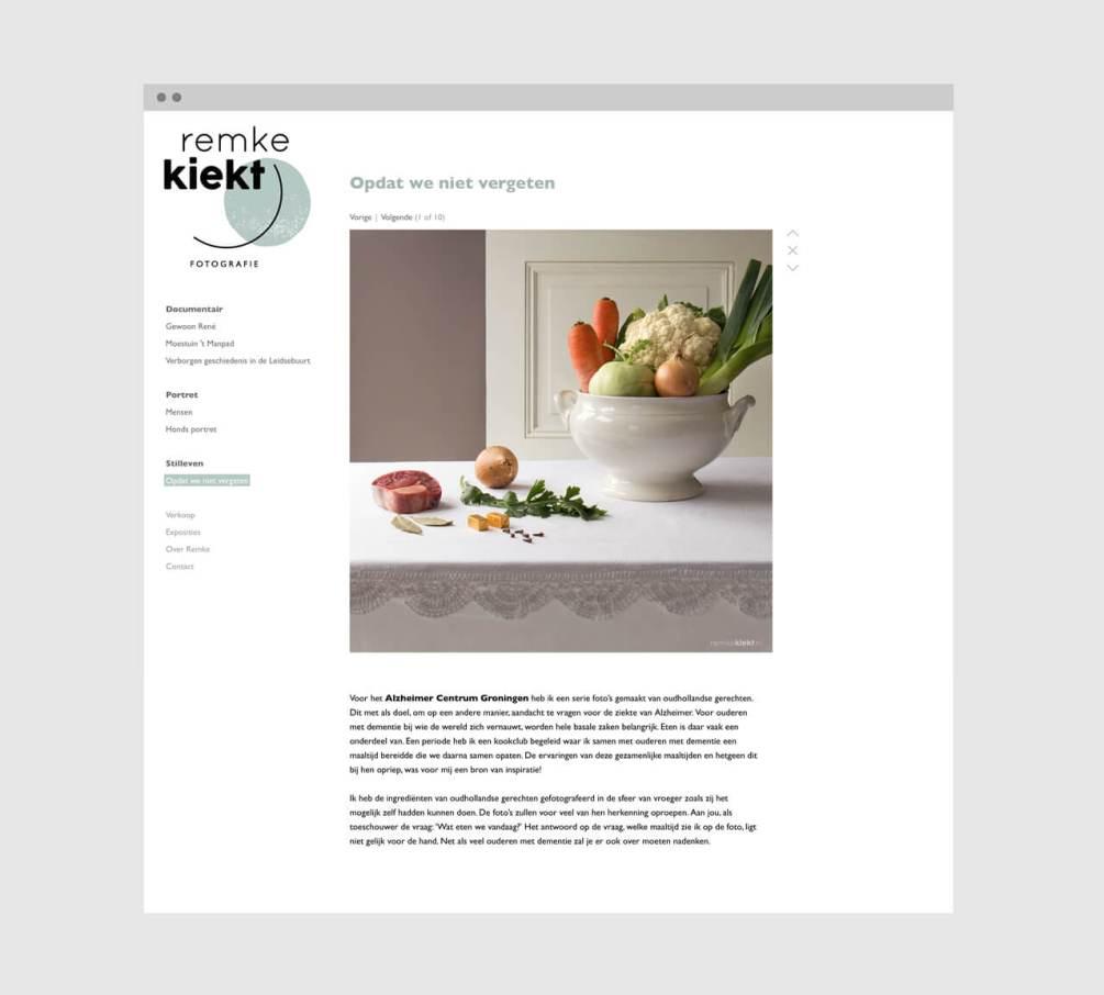 Kleuren visuele identiteit en website Remke Kiekt