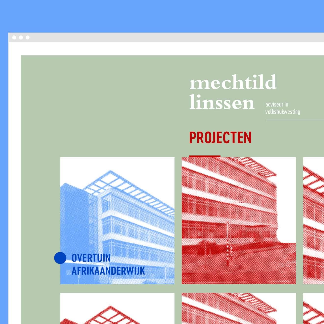 Mechtild Linssen visuele identiteit en website door Kwartier M