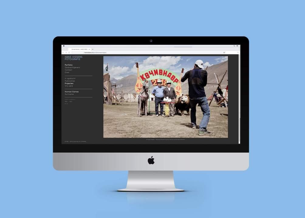 Website Hans Vissers fotografie door Kwartier M