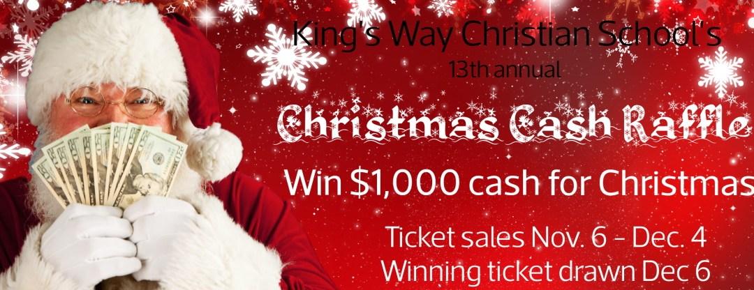 Christmas Cash Raffle is on now!!