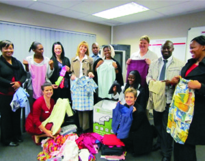The Thabazimbi ABSA branch with all the clothes they helped donate to the needy, through Kwêvoël.