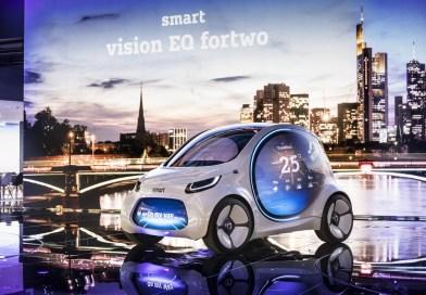 "Mercedes en die ""smart vision EQ fortwo"""