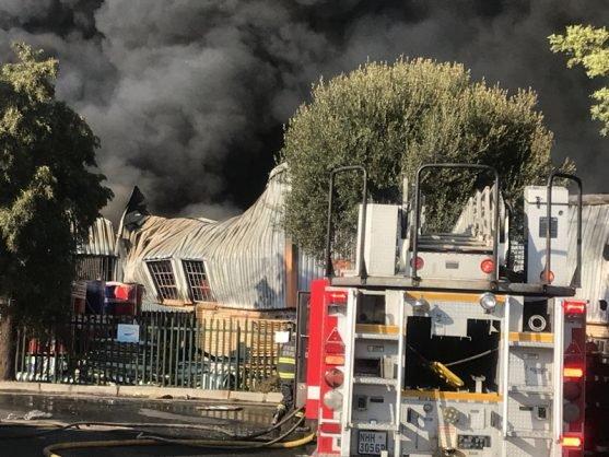 5 Sept Gomfabriek brand lokfoto 1