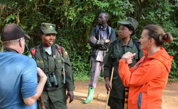Uganda Wildlife Authority briefing before gorilla tracking+Uganda+travel_with+Kwezi+Outdoors
