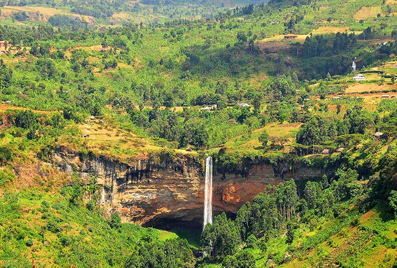Sipi Falls on the slopes of Mt Elgon in eastern+Uganda+travel_with+Kwez+Outdoors