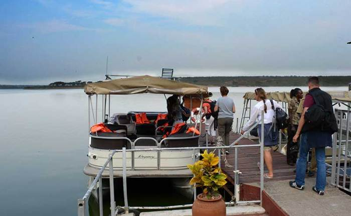 Take a boat cruise to see wildlife, various birds, and meet communities in the Queen Elizabeth National Park+Uganda+travel_with+Kwez+Outdoors