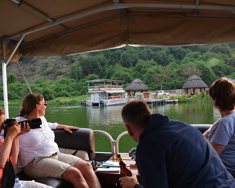 Take a private boat safari in the Queen Elizabeth National Park+Uganda+travel_with+Kwezi+Outdoors