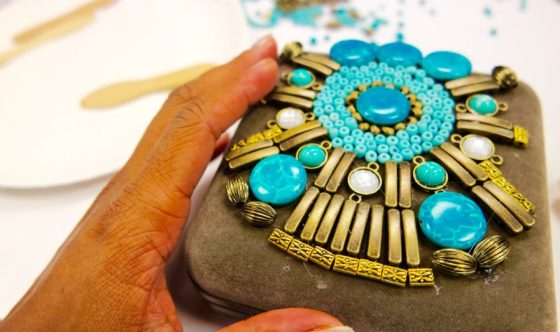 DIY Beaded Clutch - k.White Collection
