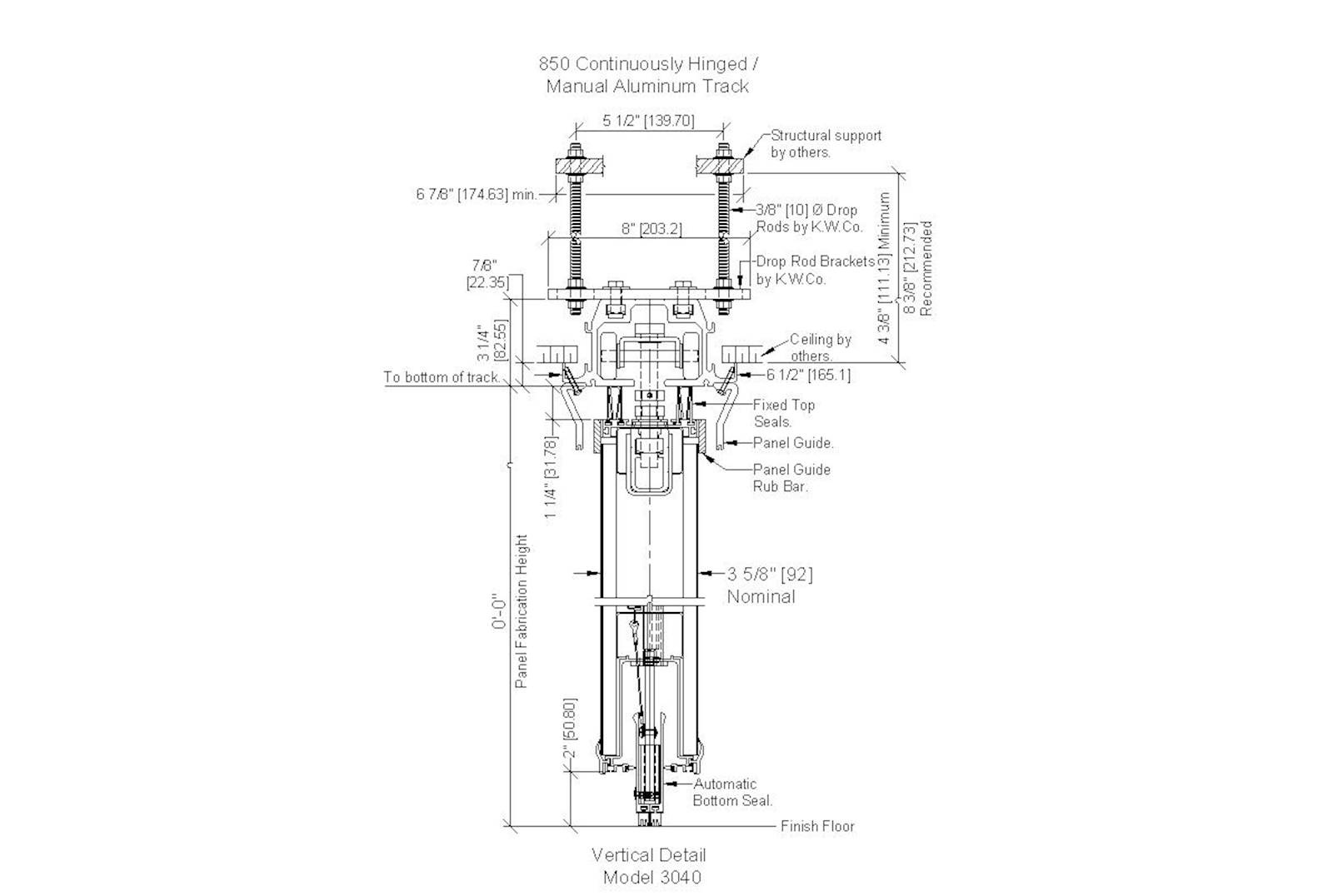 Cad Details For Kwik Wall Model Operable Wall Systems