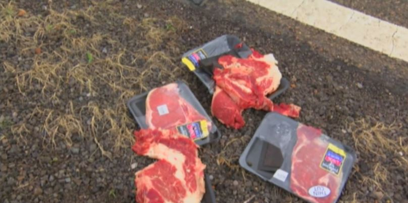 steak on side of road after pursuit_274928