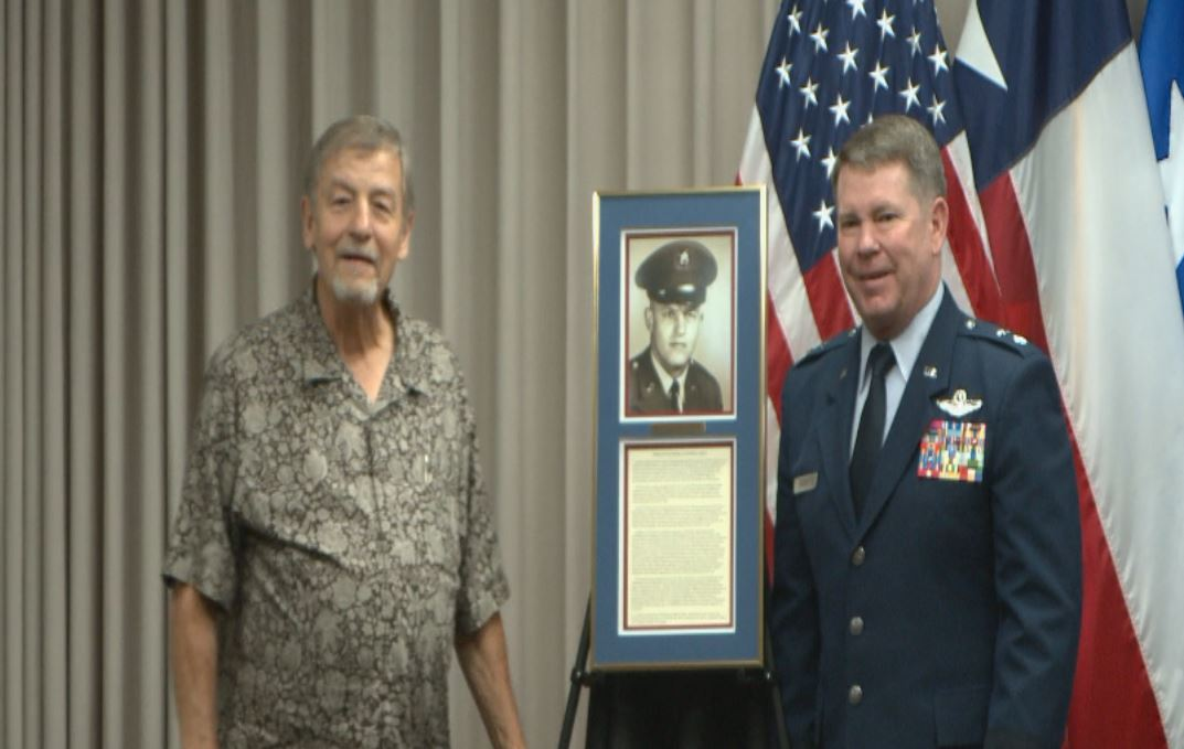 Elwood Imken was inducted into the Texas Military Hall of Honor on May 14, 2016._285181
