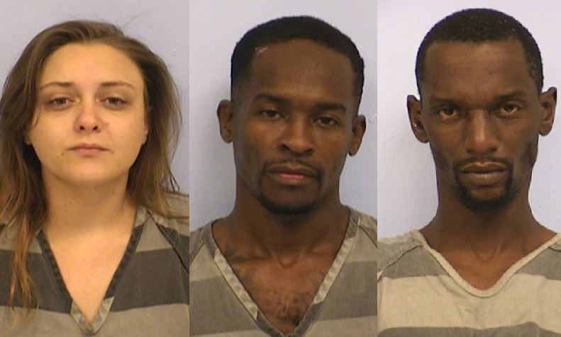 (From left to right) Chelsea Wilhelm, Clifton Wade and Reginald Wright, charged with the capital murder of Lee King in Del Valle on May 31, 201_298643