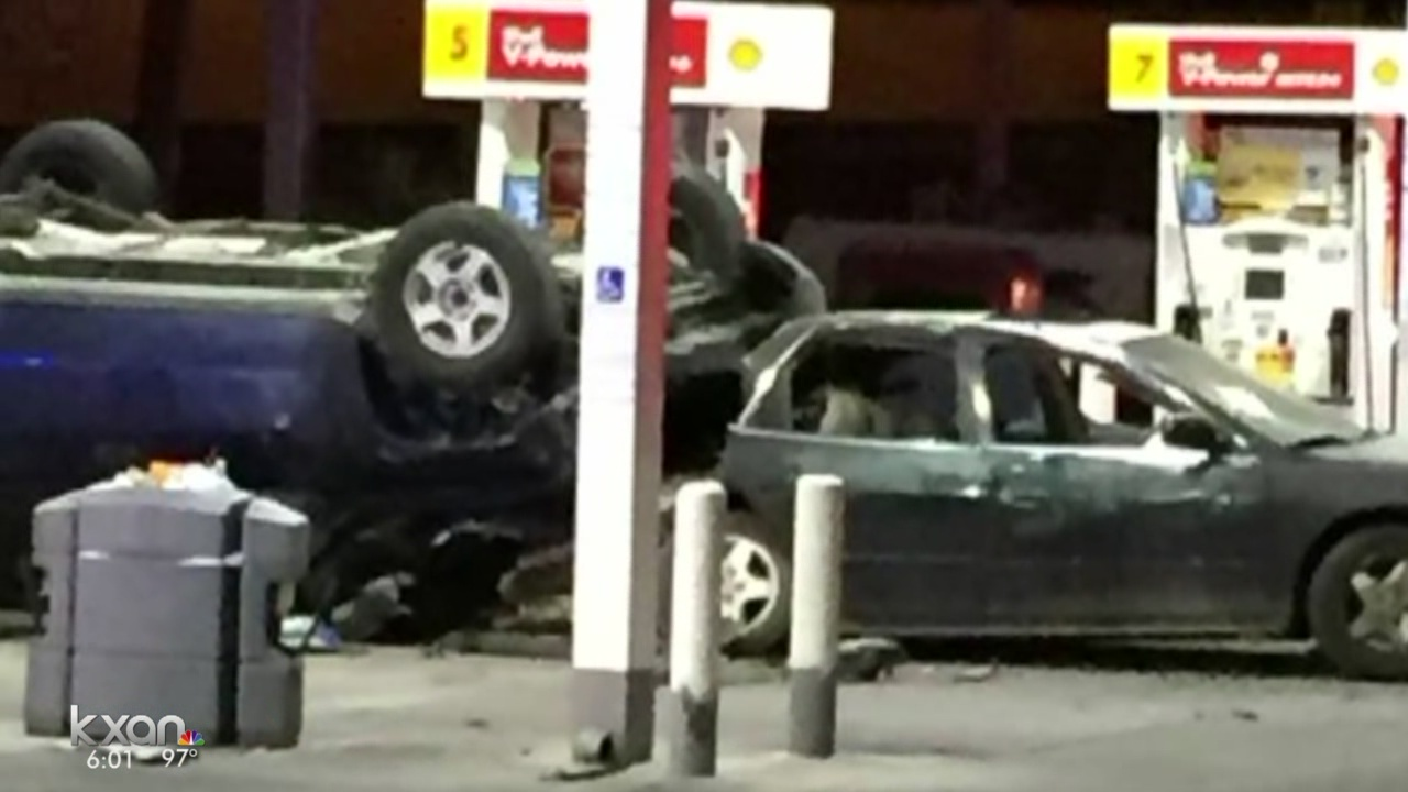 Man pumping gas hit by suspected drunk driver